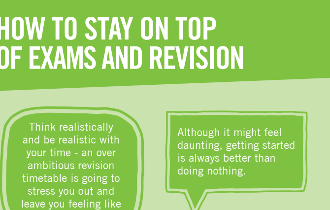 How to stay on top of exams and Revision
