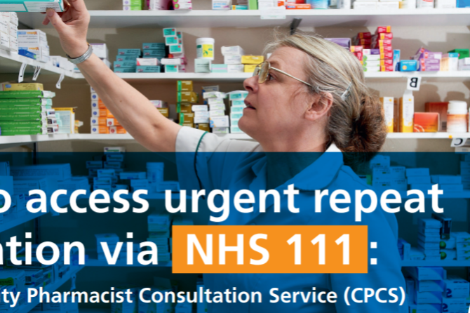 Accessing Urgent Repeat Medication Via NHS 111